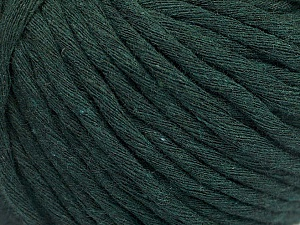 Fiber Content 100% Cotton, Brand ICE, Dark Green, Yarn Thickness 5 Bulky  Chunky, Craft, Rug, fnt2-51421