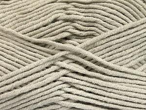 Fiber Content 55% Cotton, 45% Acrylic, Light Grey, Brand ICE, Yarn Thickness 4 Medium  Worsted, Afghan, Aran, fnt2-51429