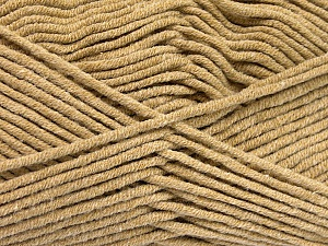 Fiber Content 55% Cotton, 45% Acrylic, Light Brown, Brand ICE, Yarn Thickness 4 Medium  Worsted, Afghan, Aran, fnt2-51430
