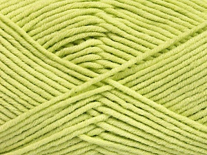 Fiber Content 55% Cotton, 45% Acrylic, Light Green, Brand ICE, Yarn Thickness 4 Medium  Worsted, Afghan, Aran, fnt2-51431