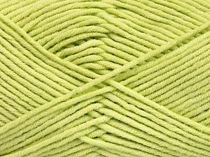 Fiber Content 55% Cotton, 45% Acrylic, Light Green, Brand ICE, Yarn Thickness 4 Medium  Worsted, Afghan, Aran, fnt2-51431