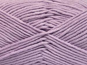 Fiber Content 55% Cotton, 45% Acrylic, Light Lilac, Brand ICE, Yarn Thickness 4 Medium  Worsted, Afghan, Aran, fnt2-51434