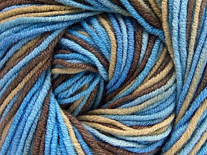 Fiber Content 55% Cotton, 45% Acrylic, Brand ICE, Brown, Blue Shades, Beige, Yarn Thickness 3 Light  DK, Light, Worsted, fnt2-51444