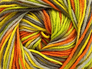 Fiber Content 55% Cotton, 45% Acrylic, Yellow, Orange, Brand ICE, Green, Camel, Yarn Thickness 3 Light  DK, Light, Worsted, fnt2-51446