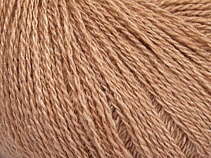 Fiber Content 65% Merino Wool, 35% Silk, Brand ICE, Beige, Yarn Thickness 1 SuperFine  Sock, Fingering, Baby, fnt2-51455