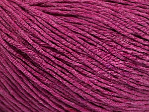 Fiber Content 100% Cotton, Brand ICE, Fuchsia Melange, Yarn Thickness 1 SuperFine  Sock, Fingering, Baby, fnt2-51481