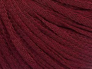 Fiber Content 50% Wool, 50% Acrylic, Brand ICE, Burgundy, Yarn Thickness 4 Medium  Worsted, Afghan, Aran, fnt2-51499