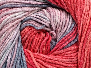 Fiber Content 55% Cotton, 45% Acrylic, Salmon, Pink, Brand ICE, Blue Shades, Yarn Thickness 3 Light  DK, Light, Worsted, fnt2-51510