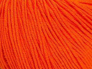 Fiber Content 60% Cotton, 40% Acrylic, Orange, Brand ICE, Yarn Thickness 2 Fine  Sport, Baby, fnt2-51516
