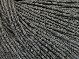 Fiber Content 60% Cotton, 40% Acrylic, Brand ICE, Grey, Yarn Thickness 2 Fine  Sport, Baby, fnt2-51562
