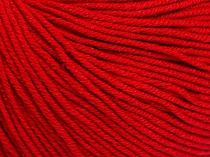 Fiber Content 60% Cotton, 40% Acrylic, Red, Brand ICE, Yarn Thickness 2 Fine  Sport, Baby, fnt2-51563