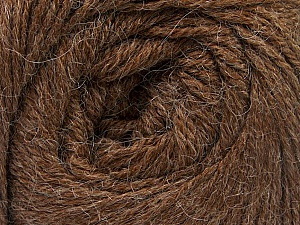 Fiber Content 45% Alpaca, 30% Polyamide, 25% Wool, Brand ICE, Brown, Yarn Thickness 2 Fine  Sport, Baby, fnt2-51591