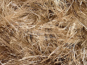 Fiber Content 100% Polyester, Brand ICE, Camel, Beige, Yarn Thickness 6 SuperBulky Bulky, Roving, fnt2-51605