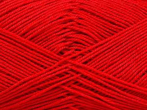 Ne: 8/4. Nm 14/4 Fiber Content 100% Mercerised Cotton, Red, Brand ICE, Yarn Thickness 2 Fine  Sport, Baby, fnt2-51638