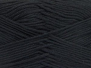Fiber Content 50% Acrylic, 50% Bamboo, Brand ICE, Black, Yarn Thickness 2 Fine  Sport, Baby, fnt2-51647