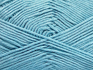 Fiber Content 50% Acrylic, 50% Bamboo, Light Blue, Brand ICE, Yarn Thickness 2 Fine  Sport, Baby, fnt2-51659