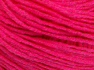 Fiber Content 50% Acrylic, 50% Cotton, Neon Pink, Brand ICE, Yarn Thickness 3 Light  DK, Light, Worsted, fnt2-51723