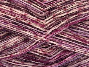 Fiber Content 75% Superwash Wool, 25% Polyamide, Purple, Lilac Shades, Brand Ice Yarns, Yarn Thickness 1 SuperFine Sock, Fingering, Baby, fnt2-51906