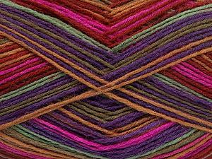 Fiber Content 75% Superwash Wool, 25% Polyamide, Purple, Light Brown, Khaki, Brand ICE, Fuchsia, Burgundy, Yarn Thickness 1 SuperFine Sock, Fingering, Baby, fnt2-51910