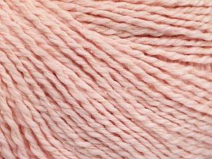 Fiber Content 68% Cotton, 32% Silk, Powder Pink, Brand Ice Yarns, Yarn Thickness 2 Fine  Sport, Baby, fnt2-51937