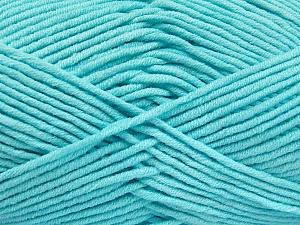 Fiber Content 55% Cotton, 45% Acrylic, Light Turquoise, Brand ICE, Yarn Thickness 4 Medium  Worsted, Afghan, Aran, fnt2-52025