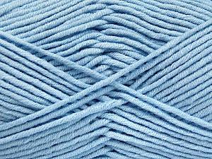Fiber Content 55% Cotton, 45% Acrylic, Light Blue, Brand ICE, Yarn Thickness 4 Medium  Worsted, Afghan, Aran, fnt2-52026