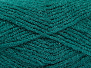 Fiber Content 50% Acrylic, 25% Alpaca, 25% Wool, Teal, Brand ICE, Yarn Thickness 5 Bulky  Chunky, Craft, Rug, fnt2-52131