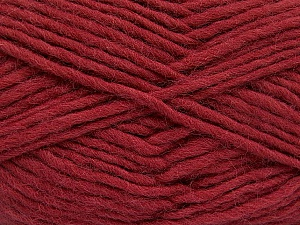 Fiber Content 100% Wool, Brand ICE, Burgundy, Yarn Thickness 5 Bulky  Chunky, Craft, Rug, fnt2-52153