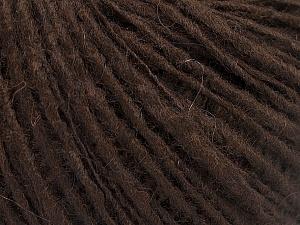 Fiber Content 65% Acrylic, 15% Alpaca, 10% Viscose, 10% Wool, Brand Ice Yarns, Dark Brown, fnt2-52189