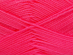 Fiber Content 100% Acrylic, Neon Pink, Brand ICE, Yarn Thickness 2 Fine  Sport, Baby, fnt2-52242