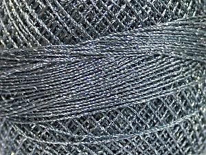 Fiber Content 70% Polyester, 30% Metallic Lurex, Brand YarnArt, Silver, Grey, Yarn Thickness 0 Lace Fingering Crochet Thread, fnt2-52250