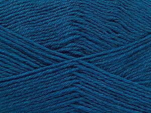 Fiber Content 60% Merino Wool, 40% Acrylic, Teal, Brand ICE, Yarn Thickness 2 Fine  Sport, Baby, fnt2-52352