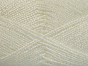 Fiber Content 100% Acrylic, White, Brand ICE, Yarn Thickness 2 Fine  Sport, Baby, fnt2-52356