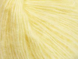 Fiber Content 34% Acrylic, 26% Polyamide, 25% Alpaca, 15% Superwash Merino Wool, Light Yellow, Brand Ice Yarns, Yarn Thickness 3 Light DK, Light, Worsted, fnt2-52383