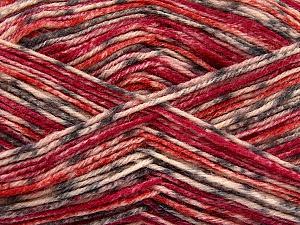 Fiber Content 75% Superwash Wool, 25% Polyamide, Red, Orange, Brand Ice Yarns, Grey, Cream, Yarn Thickness 1 SuperFine Sock, Fingering, Baby, fnt2-52389