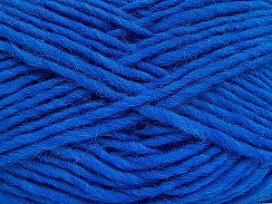 Fiber Content 100% Wool, Brand ICE, Blue, Yarn Thickness 5 Bulky  Chunky, Craft, Rug, fnt2-52570