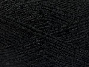 Fiber Content 70% Acrylic, 30% Wool, Brand ICE, Black, Yarn Thickness 4 Medium  Worsted, Afghan, Aran, fnt2-52601