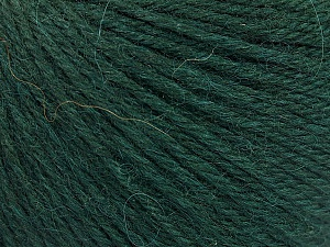 Fiber Content 55% Baby Alpaca, 45% Superwash Extrafine Merino Wool, Brand ICE, Dark Green, Yarn Thickness 3 Light  DK, Light, Worsted, fnt2-52764