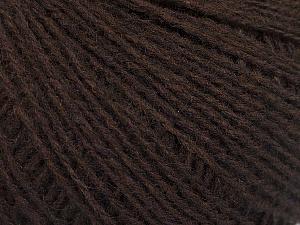 Fiber Content 70% Acrylic, 30% Wool, Brand ICE, Dark Brown, Yarn Thickness 2 Fine  Sport, Baby, fnt2-52847