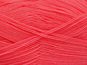 Very thin yarn. It is spinned as two threads. So you will knit as two threads. Yardage information is for only one strand. Fiber Content 100% Acrylic, Salmon, Brand Ice Yarns, Yarn Thickness 1 SuperFine  Sock, Fingering, Baby, fnt2-52910