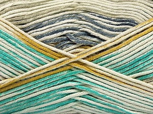 Fiber Content 50% Cotton, 50% Acrylic, Light Grey, Light Blue, Khaki, Brand ICE, Gold, Cream, Yarn Thickness 2 Fine  Sport, Baby, fnt2-52918