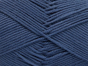 Baby cotton is a 100% premium giza cotton yarn exclusively made as a baby yarn. It is anti-bacterial and machine washable! Fiber Content 100% Giza Cotton, Indigo Blue, Brand Ice Yarns, Yarn Thickness 3 Light  DK, Light, Worsted, fnt2-53065