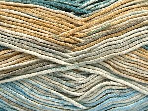Fiber Content 50% Cotton, 50% Acrylic, Turquoise, Light Blue, Brand ICE, Grey, Cream, Beige, Yarn Thickness 2 Fine  Sport, Baby, fnt2-53164