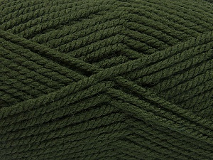 Fiber Content 100% Acrylic, Brand ICE, Dark Green, Yarn Thickness 5 Bulky  Chunky, Craft, Rug, fnt2-53177