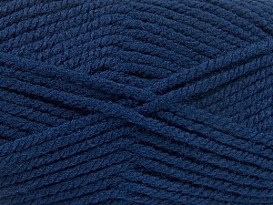 Fiber Content 100% Acrylic, Navy, Brand ICE, Yarn Thickness 5 Bulky  Chunky, Craft, Rug, fnt2-53187