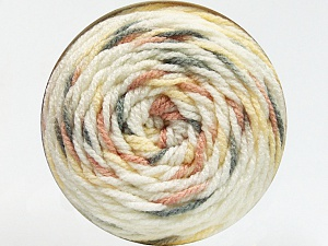 Fiber Content 80% Acrylic, 20% Polyamide, White, Rose Pink, Light Yellow, Brand ICE, Grey, Yarn Thickness 4 Medium  Worsted, Afghan, Aran, fnt2-53202