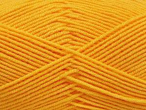 Fiber Content 50% Bamboo, 50% Acrylic, Yellow, Brand ICE, Yarn Thickness 2 Fine  Sport, Baby, fnt2-53331