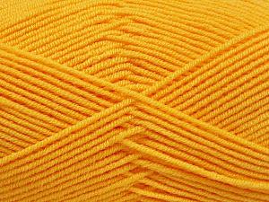 Fiber Content 50% Bamboo, 50% Acrylic, Yellow, Brand Ice Yarns, Yarn Thickness 2 Fine Sport, Baby, fnt2-53331