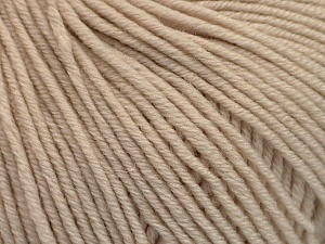 SUPERWASH MERINO EXTRAFINE is a DK weight, 100% extra fine Italian-style superwash merino wool making it extremely soft, as well as durable.  High twist and smooth texture gives unbelievable stitch definition making this a good choice for any project that you want to show off your stitch work. Projects knit and crocheted in SUPERWASH MERINO EXTRAFINE are machine washable! Lay flat to dry. Do not bleach. Do not iron Fiber Content 100% Superwash Extrafine Merino Wool, Brand ICE, Beige, Yarn Thickness 3 Light  DK, Light, Worsted, fnt2-53342
