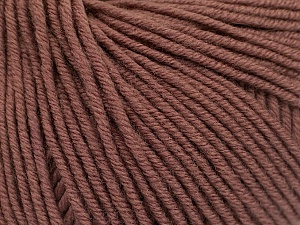 SUPERWASH MERINO EXTRAFINE is a DK weight, 100% extra fine Italian-style superwash merino wool making it extremely soft, as well as durable.  High twist and smooth texture gives unbelievable stitch definition making this a good choice for any project that you want to show off your stitch work. Projects knit and crocheted in SUPERWASH MERINO EXTRAFINE are machine washable! Lay flat to dry. Do not bleach. Do not iron Fiber Content 100% Superwash Extrafine Merino Wool, Brand ICE, Brown, Yarn Thickness 3 Light  DK, Light, Worsted, fnt2-53344
